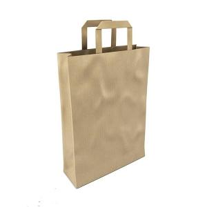 环保手提直筒型热封口牛皮纸袋